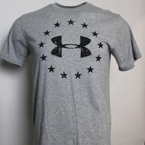 "Under Armour ""Freedom"" Stars Heat Gear Graphic T M"